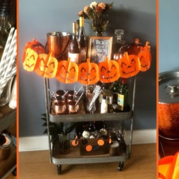 Bar Cart Styling - Halloween Edition | InStyleRooms.com/Blog