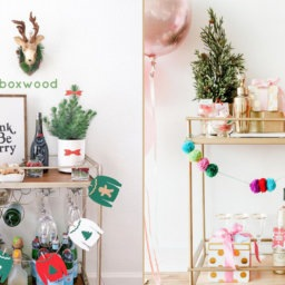 15 Bar Carts Dressed Up for the Holidays | InStyleRooms.com/Blog