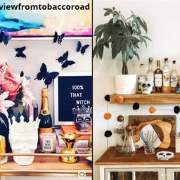 Bar Cart Styling: Halloween Style | InStyleRooms.com/Blog