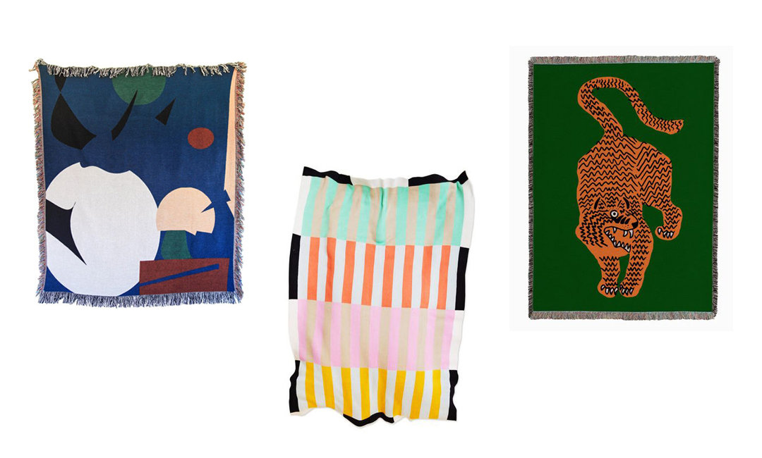 Patterned Blankets That Could Pull Double Duty As Art | InStyleRooms.com/Blog
