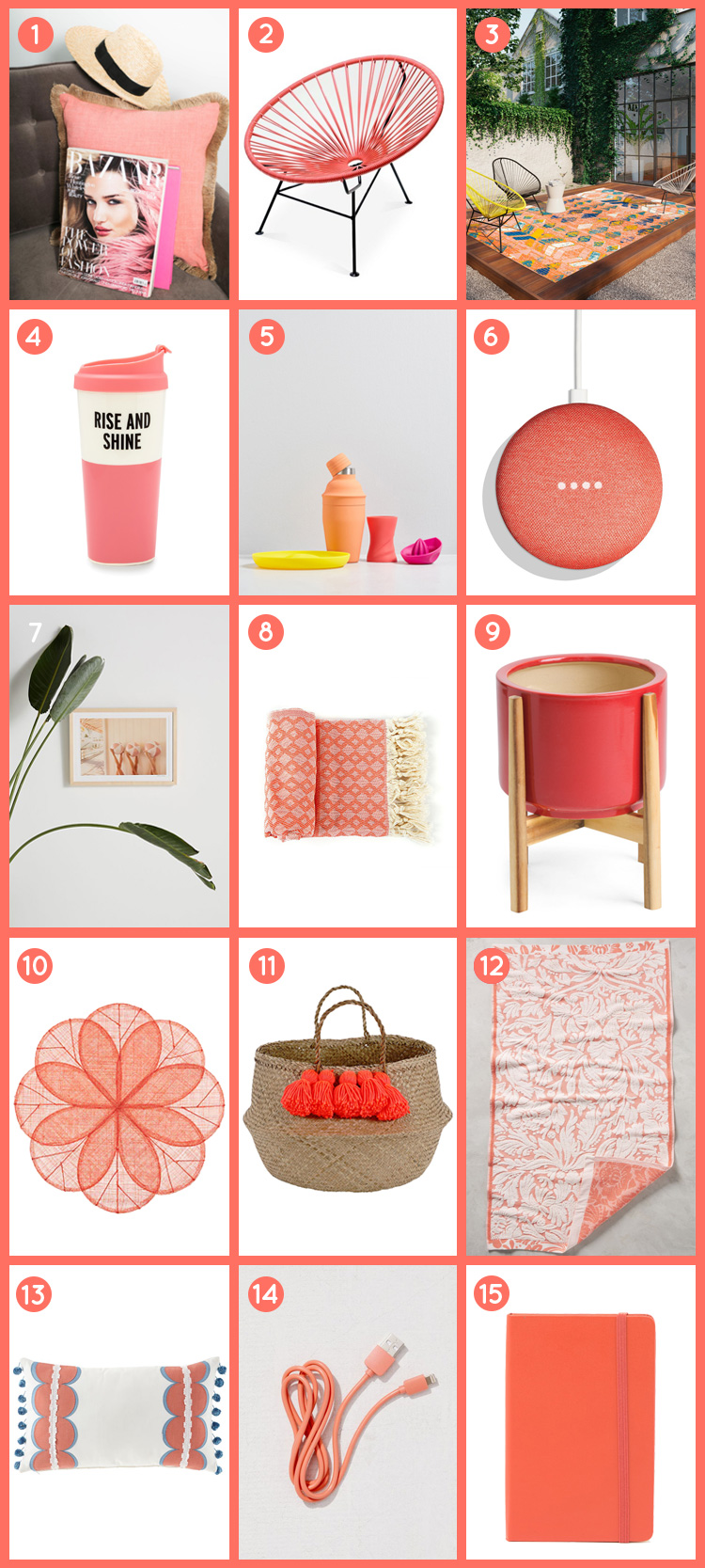 Brighten Up Your Home with Pantone's Color of the Year 2019, Living Coral | InStyleRooms.com/Blog